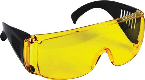 Очки защитные FIT, цвет: желтый12220Очки защитные FIT предназначены для защиты глаз от пыли, окалины, краски, стружки при проведении различных работ.