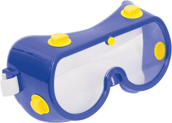Очки защитные FIT, зактрытого типа, цвет: синий