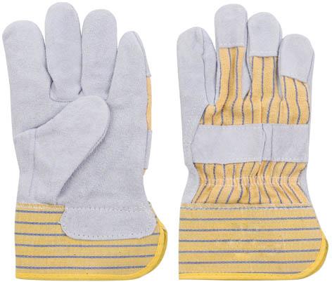 Перчатки рабочие кожаные, цвет: серый, 10,512442Перчатки рабочие кожаные предназначены для защиты рук во время строительных и погрузо-разгрузочных работ. Изготовлены из натуральной телячьей кожи, отличаются прочностью и износостойкостью. Перчатки позволяют крепко удерживать инструмент во время работы, препятствуя его выскальзыванию. Они удобны в эксплуатации и отлично защищают руки от грязи и механических повреждений. Характеристики: Материал: телячья кожа, ткань. Размеры перчаток: 24,5 см x 14 см x 2 см. Размер упаковки: 24,5 см x 14 см x 2 см.