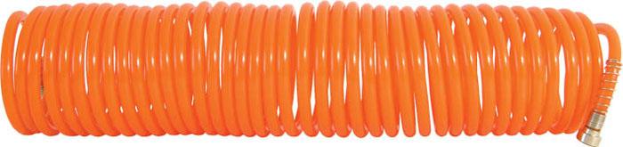 Шланг-удлинитель FIT, 10 м81103Витой шланг-удлинитель FIT применяется для подачи воздуха к пневматическому инструменту. Изготовлен из полиуретана, отличается прочностью и удобством эксплуатации. Имеет два разъема с двух сторон с типом соединения байонет и  Быстросъем. Спиральное исполнение предотвращает перегибы и увеличивает удобство при использовании и хранении.