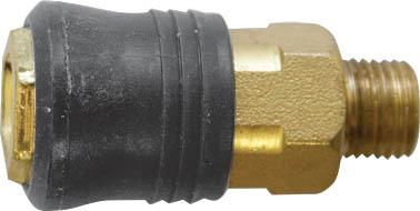 Адаптер быстросъемный FIT, М13 8115181151Адаптер быстросъемный с запорным клапаном FIT универсального типа предназначен для соединения с пневматической линией, инструментом, компрессором. Совместим с ниппелями всех типов.