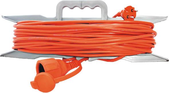 Удлинитель на рамке без заземления Universal, 10 м83251Удлинитель UNIVersal с одной розеткой предназначен для строительных объектов с удаленным источником энергии. Двойная изоляция ПВХ силового удлинителя обеспечивает ему дополнительную защиту от внешних факторов. Максимальная нагрузка - 1300 Вт, 6А. Не рекомендуется использовать во влажных и химически активных средах. Характеристики: Длина провода: 10 м. Максимальная мощность: 1300 Вт. Максимальный ток: 6 A. Провод: 2х0,75 мм. Толщина провода: 5 мм. Размер упаковки: 48 см х 38 см х 5 см.