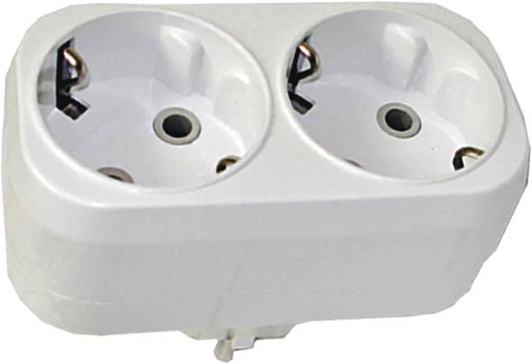 Разветвитель UNIVersal с заземлением, 2 гнезда. 8331783317Разветвитель UNIVersal предназначен для одновременного присоединения одного, двух или трех бытовых приборов к одной розетке двухполюсной электрической сети переменного тока напряжением 220-250 Вт, частотой 50 Гц. Применяются для подключения электроприборов с вилкой европейского стандарта к розеткам европейского стандарта до 250 Вт, изготовлен из АБС-пластика белого цвета. Характеристики: Материал: ABS пластик. Размеры разветвителя: 9 см x 4,5 см x 7,5 см. Размер упаковки: 22,5 см x 13,5 см x 8 см.