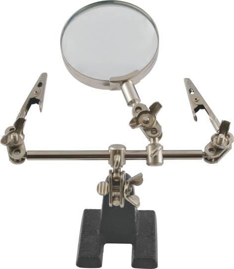 Зажим для пайки Курс с лупой60525/199020Зажим для пайки Курс с лупой используется для работы с мелкими деталями и проводами. Имеет устойчивую станину и зажимы, фиксирующие деталь при работе, 3-х кратная лупа позволяет работать с мелкими деталями. Характеристики: Материал: инструментальная сталь. Размеры зажима: 12 см х 14 см х 5 см. Диаметр лупы: 6 см. Кратность увеличения: 3. Размеры упаковки: 19 см х 6 см х 19 см.