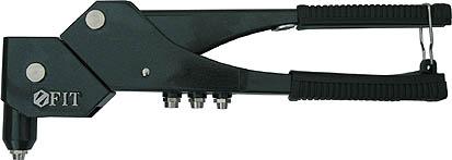 Заклепочник FIT, с поворотным механизмом, 280 мм. 3203532035Заклепочник FIT с поворотным механизмом может работать с заклепками диаметром от 2,4 до 4,8 мм. Инструмент обладает прочной конструкцией. Головка заклепочника поворачивается на 360 градусов, что обеспечивает удобную работу даже в ограниченном пространстве.