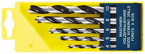 Набор сверл по дереву FIT, 5 шт. 3609936099Набор сверл FIT предназначен для сверления глухих и сквозных отверстий, как в мягкой, так и в твердой древесине, ДСП и ДСП с покрытиями. Сверла изготовлены из высококачественной инструментальной стали. Имеется центрирующее острие, повышающее точность и качество сверления.