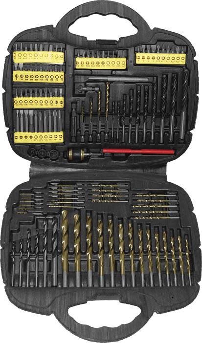 Набор сверл и бит FIT, 123 шт36365Набор сверл и бит FIT применяется совместно с аккумуляторными и электродрелями для сверления и монтажа/демонтажа резьбовых соединений. В набор входят: Биты крестовые: PH0, PH1, PH2, PH3, PZ0, PZ1, PZ2, PZ3. Биты шестиугольные: T8, T9, T10, T15, T20, T25, T27, T30, T35, T40, T10, T15, T20, T25. Биты шлицевые: SL3, SL5, SL6, SL8. Биты шлицевые U-образные: SL4, SL6, SL8, SL10. Биты шестиугольные: H1,5, Н2, Н2,5, Н3, Н3,5, Н4, Н4,5, Н5, Н5,5, Н6, Н7, Н8, Н2, Н3, Н4, Н5. 35 сверел по металлу с титановым покрытием: 1 мм х 4 шт, 5 мм х 2 шт, 2 мм х 4 шт, 2,5 мм х 2 шт, 3 мм х 4 шт, 3,5 мм х 2 шт, 4 мм х 3 шт, 4,5 мм, 5,2 мм, 5,5 мм, 6,5 мм х 2 шт, 7 мм, 7,5 мм, 8,5 мм, 9 мм, 9,5 мм, 10 мм 4 сверла по металлу с титановым покрытием и хвостиком под биту: 1,5 мм, 2 мм, 3 мм, 4 мм. Зенкер. Пробойник. Быстрозажимной фиксатор. Карандаш для дерева. 3 ограничителя глубины отверстия для сверел: 6 мм, 8 мм, 10 мм. Адаптер для...