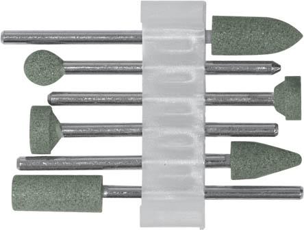 Шарошки силиконово-карбидные FIT, 6 шт36925Шарошки силиконово-карбидные FIT предназначены для шлифовки изделий из камня, мрамора и стекла.