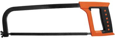 Ножовка по металлу FIT, 30 см, цвет: красный, черный, в ассортименте пилка