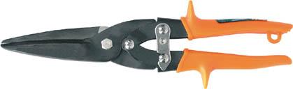 Ножницы по металлу Aviation, прямые. 4152741527Прямые ножницы по металлу Aviation имеют удлиненные лезвия для раскройки листового металла большой площади. Инструмент прочен и надежен в использовании за счет материала, из которого изготовлены рабочие части - качественной инструментальной стали.