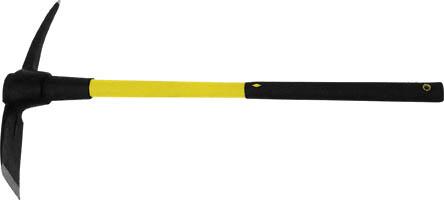 Кирка FIT, фиброглассовая ручка, 1,5 кг44477Кирка FIT предназначена для разрыхления твердого грунта при строительных и земляных работах. Инструмент прослужит в течение долгого времени, благодаря бойку из штампованной инструментальной стали. Инструмент оснащен удобной фиброглассовой рукояткой. Подойдет как для новичков, так и для профессионалов. Характеристики: Материал: пластик, металл. Длина ручки: 88 см. Размеры кирки: 45 см х 6 см х 5,5 см. Размеры упаковки: 89 см х 9 см х 6 см.