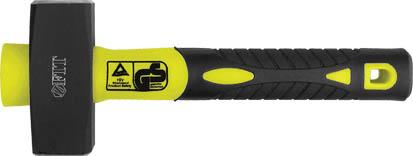 Кувалда FIT, фиброглассовая ручка, 1 кг45221Кувалда FIT с фиброглассовой ручкой для амортизации ударов и с эргономичной накладкой из композитной резины. Поверхность бойков закалена, хромирована для защиты от коррозии.