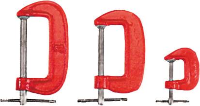 """Набор G-образных струбцин FIT """"Junior"""", 25 мм, 50 мм, 75 мм 59230"""