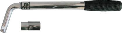 Ключ баллонный телескопический FIT, цвет: серебристый, черный, 550 мм