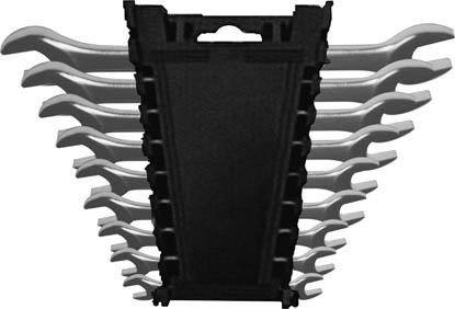 Набор ключей рожковых FIT, 9 шт63515Ключи гаечные рожковые FIT станут отличным помощником монтажнику или владельцу авто. Этот инструмент обеспечит надежную фиксацию на гранях крепежа. Специальная хромованадиевая сталь повышает прочность и износ инструмента. Состав набора: ключи 6 х 7 мм, 8 х 9 мм, 10 х 11 мм, 10 х 13 мм, 12 х 13 мм, 14 х 15 мм, 16 х 17 мм, 18 х 19 мм, 20 х 22 мм.
