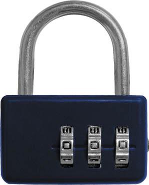 Замок навесной FIT кодовый, цвет: синий, 3 диска