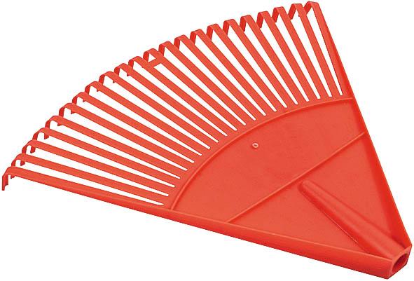 Грабли веерные FIT, цвет: красный, 22 зуба77001Веерные пластиковые грабли FIT идеально подходят для работы на садовом участке, для сбора мусора, срезанных веток и сухой листвы. Зубья выполнены из прочного пластика и имеют веерную форму. Они не имеют черенка, что позволяет подобрать рукоятку необходимой длины.