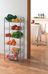 Этажерка Monaco, цвет: серебристый, 6 полок, 41 x 23 x 104 см34.30.16Этажерка Monaco состоит из шести полочек. Предназначена для использования в любых помещениях. Идеально подходит для использования на кухнях, ванных комнатах.