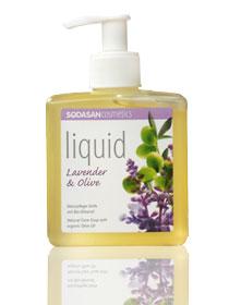 Sodasan Жидкое мыло Лаванда-олива, 300 мл7936Органическое травяное мыло Sodasan с лавандовым и оливковым маслами подходит для ежедневного ухода за кожей рук и тела. Идеально подходит для успокоения кожи, снимает раздражение, воспаление, покраснение, различные проявления аллергических реакций, рекомендуется в качестве освежающего и тонизирующего средства для уставшей кожи. Не содержит синтетические ароматизаторы, консерванты и красители. Абсолютно безопасное. Может использоваться для чувствительной кожи. Обладает приятным ароматом лаванды. Характеристики: Объем: 300 мл. Производитель: Германия. Артикул: 7936. Товар сертифицирован.