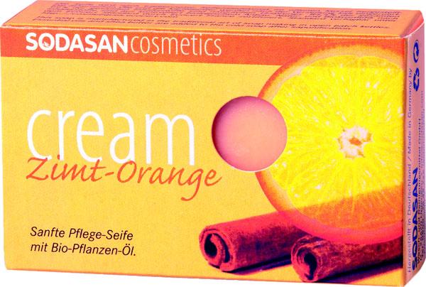 Sodasan Крем-мыло туалетное Корица-апельсин, глицериновое, 100 г19008Глицериновое крем-мыло Sodasan Корица-апельсин за счет усиления капиллярного кровообращения, мыло прекрасно тонизирует и питает кожу. Кожа становится более свежей, улучшается цвет лица. За счет бактерицидных свойств цитрусового масла, мыло снимает раздражение и способствует удалению угревой сыпи. Повышает тонус и упругость кожи. Является естественным УФ-фильтром. Сочетание ароматов корицы и апельсина делает использование мыла особенно приятным.