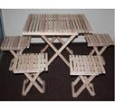 Набор мебели для пикника Счастливый дачник, 5 предметовНСД-2Набор складной мебели для пикника Счастливый дачник - это незаменимый набор на даче для приятного времяпрепровождения. Набор состоит из складного стола и четырех табуретов. Мебель выполнена из дерева (ольха), легко складывается и компактна при хранении. Такой набор прекрасно подойдет для комфортного отдыха на даче.