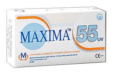 Maxima контактные линзы 55 UV (6шт / 8.6 / -0.25)1224MAXIMA 55 UV (Original) (6 блистеров) это линзы ежемесячной замены, обеспечивающие отличное зрение и удобство ношения одновременно с защитой от ультрафиолетового излучения. Предназначены для ежедневного ношения и ежемесячной замены. Удобство ношения достигается благодаря уникальной технологии формовки, которая обеспечивает постоянную толщину кромки линзы по всей длине ее окружности и обеспечивает исключительно гладкую поверхность линзы и ее краев при извлечении из формы. Легкость обращения с линзами Maxima 55 UV достигается с помощью специального дизайна и легкой окраски линзы: линза устойчиво держит форму на пальце при надевании, легкая окраска линзы позволяет без труда находить линзу при надевании и снятии. Благодаря уникальной технологии формовки любое отклонение от эталона практически исключено: форма линзы остается неизменной, поскольку отпадает необходимость в дополнительной полировке. Замена через 1 месяц.