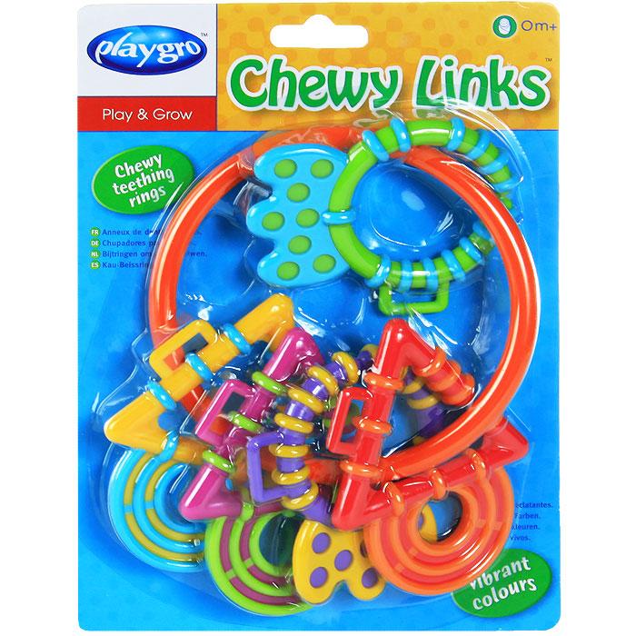 Игрушка-прорезыватель Playgro Волшебные кольца4011459Игрушка-прорезыватель Playgro Волшебные кольца представляет собой большое кольцо, на которое нанизаны пять разноцветных фигурных элементов с рельефными краями. Элементы выполнены из безопасного пластика и могут использоваться как прорезыватели. Благодаря рельефной поверхности, они помогут снять неприятные ощущения при прорезывании зубов. Прорезыватели не замкнуты, легко снимаются и могут использоваться отдельно. Форма кольца и прорезывателей удобны для маленьких детских ручек. Малыш сможет игрушку держать, трясти и перекладывать из одной ручки в другую. Игрушка-прорезватель Playgro Цепочка поможет ребенку развить цветовое восприятие, мелкую моторику рук, хватательные рефлексы и координацию движений.