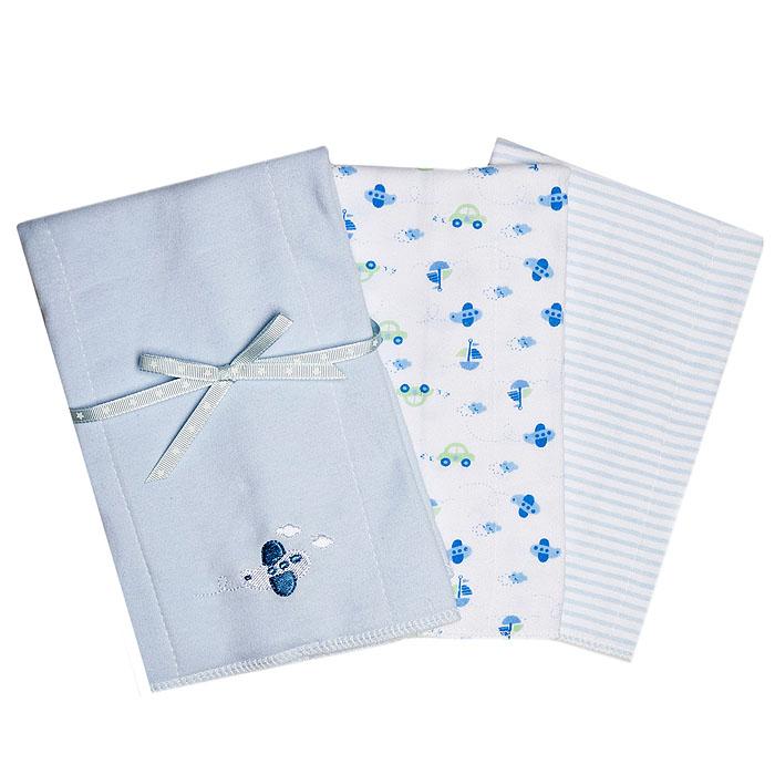 Набор салфеток для кормления Spasilk, двуслойные, цвет: голубой, 3 шт, 30 см х 43 смBC 002Набор салфеток для кормления Spasilk станет незаменимым помощником маме во время кормления малыша. Каждая салфетка двухслойная, обе стороны выполнены из мягкого хлопка, максимально абсорбирующего влагу. Края салфеток обработаны, что увеличивает срок их службы. С такими салфетками одежда вашего малыша будет всегда оставаться чистой. В комплект входят три салфетки: нежно-голубого цвета с вышитой аппликацией в виде самолетика, белая с принтом в виде самолетиков, машинок и корабликов и бело-голубая в полоску. Характеристики: Материал: 100% хлопок. Размер салфетки: 30 см х 43 см. Изготовитель: Китай.