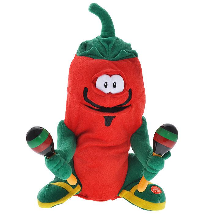 Анимированная игрушка Перчик Гринго, 29 смJCH1212Перчик Гринго - анимированная игрушка, выполненная в виде очаровательного красного перчика с маракасами, вызовет улыбку у каждого, кто его увидит. Нажмите кнопку на ножке перчика, и он исполнит задорную песню Кукарача. Во время исполнения песни, перчик покачивается влево и вправо в такт музыке, открывая рот синхронно со словами песни. Эта очаровательная игрушка станет отличным подарком не только для ребенка, но и взрослого.
