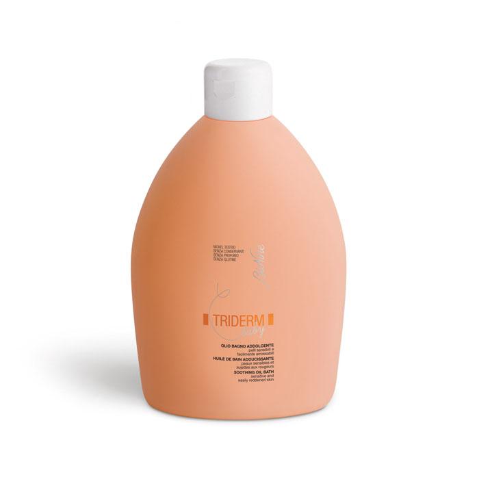 Масло для купания BioNike Triderm Baby, успокаивающее, очищающее, 500 мл21735Успокаивающее очищающее масло для купания BioNike Triderm Baby с эксклюзивной не пенящейся формулой, предназначено для чувствительной и склонной к покраснениям кожи и подходит для новорожденных и детей до 12 лет. Масло не содержит консерванты и глютен. Масло мягко очищает кожу новорожденных и младенцев, не повреждая естественный гидролипидный слой. Можно использовать несколько раз в день, а также, при наличии кожных заболеваний, таких как атопические дерматиты. Рекомендуемый возраст: от 0 месяцев до 12 лет. Товар сертифицирован.