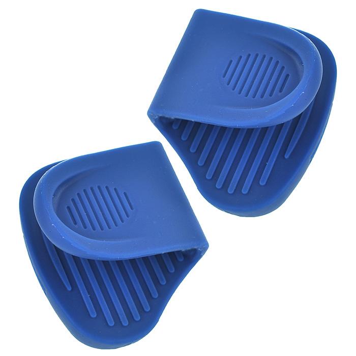 Набор прихваток Frybest, цвет: синий SG002CV-G/SG002 BlueНабор прихваток Frybest, изготовленных из термостойкого прочного силикона синего цвета, выполнен в ярком дизайне. Эргономичная форма и рифленая поверхность позволяют без труда переносить горячую посуду. Приятные на ощупь, гигиеничные, прихватки выдерживают большой перепад температур от -40°С до 250°С. Легко моются в посудомоечной машине. С помощью такого набора ваши руки будут защищены, когда вы будете ставить или доставать выпечку.