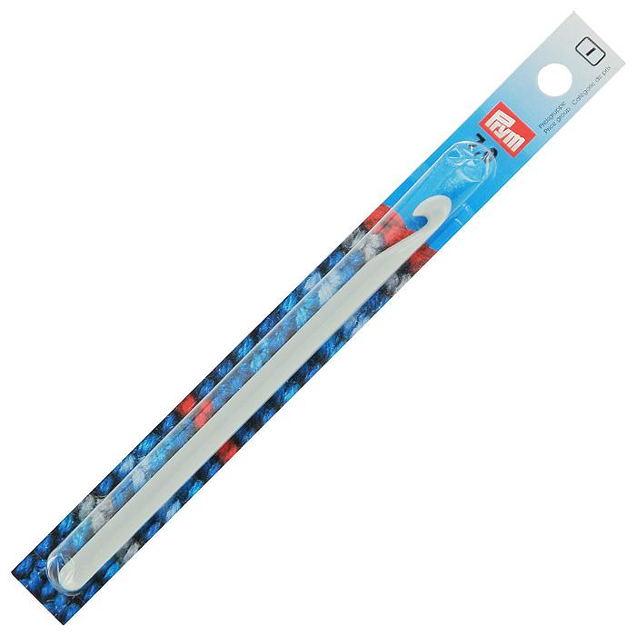 Крючок для ручного вязания Prym, с направляющей площадью № 7218500Крючок для ручного вязания Prym Irma с направляющей площадью выполнен из высококачественного пластика серого цвета. Крючок предназначен для ручного вязания толстой пряжей.