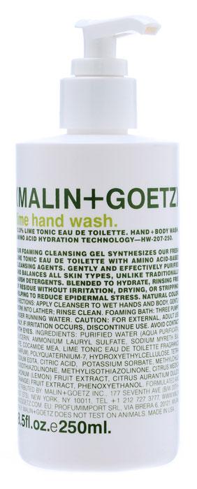 Malin+Goetz Мыло жидкое для рук Лайм, 250 млMG024Пенящееся мыло Malin+Goetz для рук с ароматом лайма эффективно очищает и увлажняет кожу. Мыло сочетает обаяние аромата лайма и очищающие ингредиенты на основе аминокислот. В отличие от традиционных средств с грубыми очищающими веществами, мыло мягко и эффективно очищает и поддерживает баланс всех типов кожи. Имеет натуральный цвет. Является прекрасным дополнением к любому ежедневному уходу за кожей. Полностью смывается водой, не вызывает раздражения, сухости или повреждений кожи. Снижает эпидермальный стресс, вызываемый мытьем рук. Характеристики: Объем геля: 250 мл. Производитель: США. Товар сертифицирован.