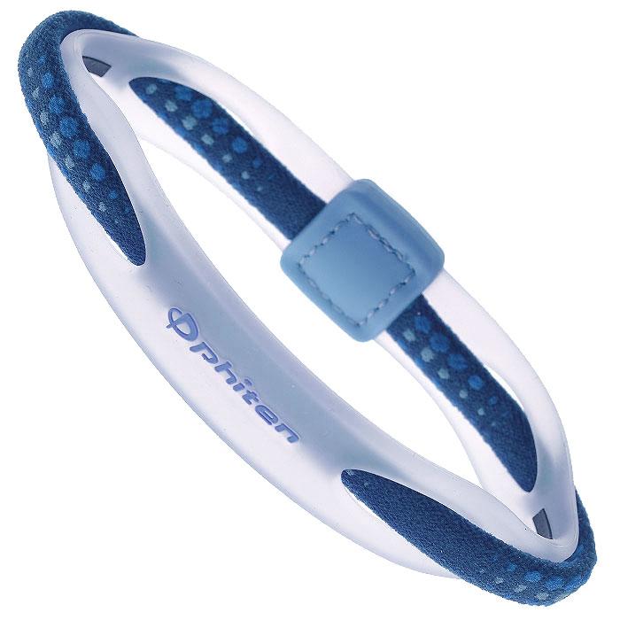 Браслет на руку Phiten Rakuwa Bracelet X50 Hybrid, цвет: синий, 17 смTG497225Браслет на руку Phiten Rakuwa Bracelet X50 Hybrid представляет собой комбинацию текстильных и силиконовых элементов, которые гармонично сочетаются в его современном дизайне. Жизнерадостная расцветка придется по вкусу всем, кто любит спортивный стиль и активный образ жизни. Модель содержит AquaTitan. Браслет способствует улучшению циркуляции крови в организме, уменьшению усталости, а также расслаблению и восстановлению сил.