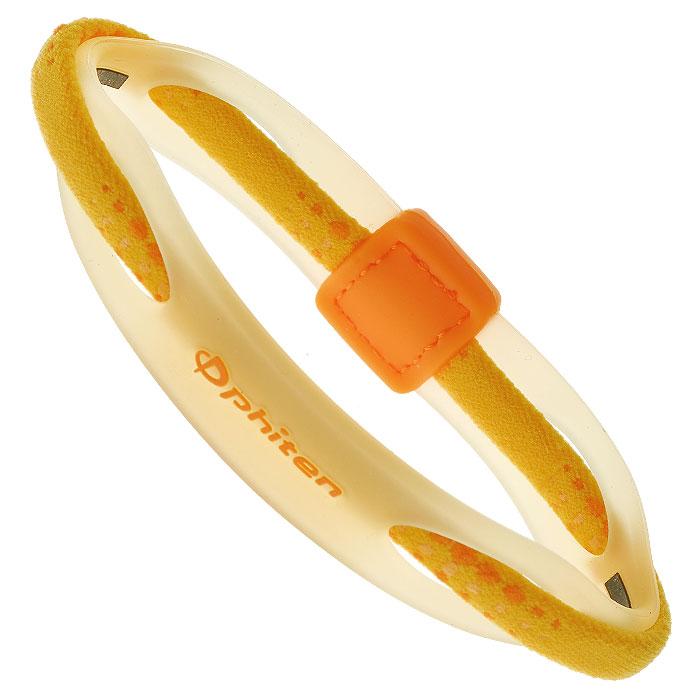 Браслет на руку Phiten Rakuwa Bracelet X50 Hybrid, цвет: желтый, 17 смTG497325Браслет на руку Phiten Rakuwa Bracelet X50 Hybrid представляет собой комбинацию текстильных и силиконовых элементов, которые гармонично сочетаются в его современном дизайне. Жизнерадостная расцветка придется по вкусу всем, кто любит спортивный стиль и активный образ жизни. Модель содержит AquaTitan. Браслет способствует улучшению циркуляции крови в организме, уменьшению усталости, а также расслаблению и восстановлению сил.