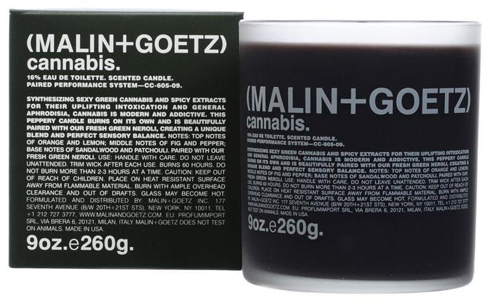 Malin+Goetz Свеча ароматизированная Каннабис, 260 гMG034Современный и соблазнительный аромат cвечи Каннабис сочетает сексуальные ноты зелени конопли и пряные экстракты, которые оказывают тонизирующее действие и являются афродизиаком. Композиция: верхняя нота: инжир и перец. средняя нота: апельсин и лимон. базовая нота: сандал и пачули. Оптимальное время непрерывного горения свечи - не более 2 или 3 часов. Характеристики: Вес: 260 г. Производитель: США. Товар сертифицирован.