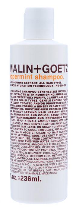 Malin+Goetz Шампунь Мята, для всех типов волос, 236 млMG049Нежный увлажняющий шампунь Мята подходит для ежедневного и частого использования. Натуральный экстракт мяты и очищающие ингредиенты на основе аминокислот эффективно очищают и поддерживают баланс всех типов волос и кожи головы. В отличие от традиционных грубых очищающих средств, шампунь Мята очищает, не вызывая сухости, повреждений или раздражения кожи, и не накапливается на волосах. Шампунь умеренно пенится, полностью смывается водой, делая волосы мягкими и ухаживая за кожей головы. Не содержит хлорид натрия и является прекрасным дополнением к ежедневному уходу за окрашенными волосами и волосами с химической завивкой или выпрямлением. Имеет натуральный аромат и цвет. Характеристики: Объем: 236 мл. Производитель: США. Товар сертифицирован.