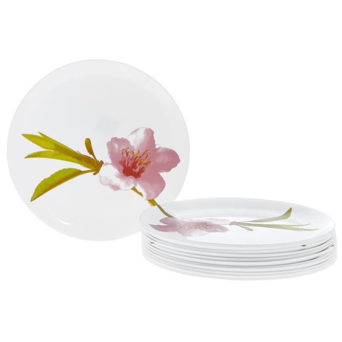 Набор тарелок Luminarc Water color 12шт, 25 см, цвет: белый 07960\E4891\N07960\E4891\NНабор Water color, выполненный из высококачественного стекла белого цвета и декорированный изящным изображением цветка, состоит из двенадцати плоских тарелок. Тарелки предназначены для красивой сервировки закусок и вторых блюд. Они прекрасно подойдут для вашей кухни и великолепно украсят стол. Изящный дизайн и красочность оформления набора придутся по вкусу и ценителям классики, и тем, кто предпочитает утонченность и изысканность. Характеристики: Материал: стекло. Комплектация: 12 шт. Цвет: белый. Диаметр тарелки: 25 см. Высота тарелки: 1,5 см. Размер упаковки: 25,5 см х 26 см х 7,5 см. Артикул: 07960\E4891\N.