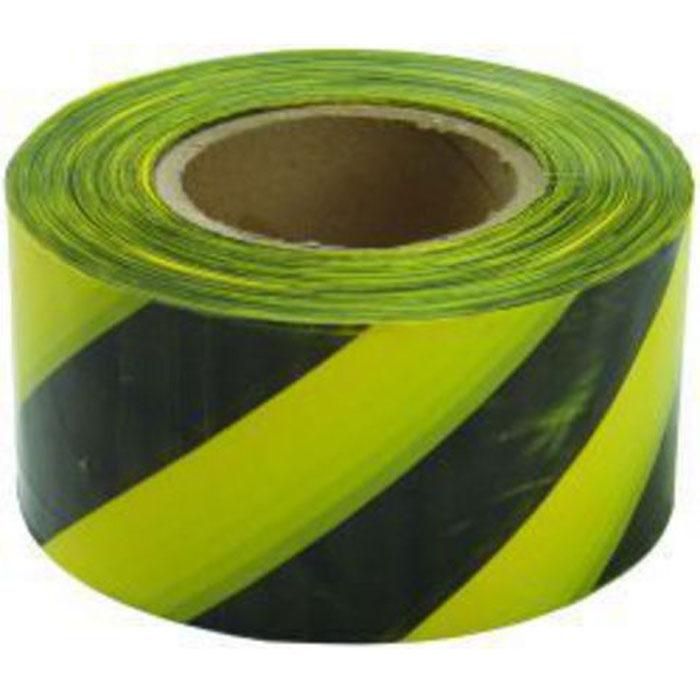 Лента сигнальная Fit, цвет: черно-желтый, 50 мм х 100 м