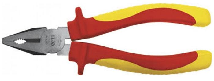 Плоскогубцы FIT 200 мм, до 1000 В50785Плоскогубцы FIT изготовлены из хром-ванадиевой стали. Они предназначены для захвата, зажима и удержания мелких деталей. Имеют эргономичные изолированные прорезиненные ручки. Выдерживают напряжение до 1000 вольт.