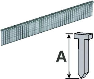 Скобы-гвозди Fit, 12 мм, 1000 шт. 3124231242Металлические скобы-гвозди для степлера Fit с заточенными концами обеспечивают быстрое и надежное скрепление нужной толщины материала.