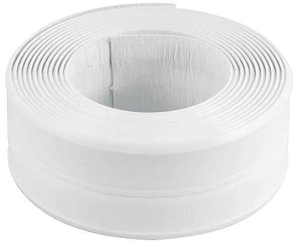 Лента бордюрная Fit, самоклеящаяся, водостойкая, цвет: белый, 20 мм х 20 мм х 3,35 м