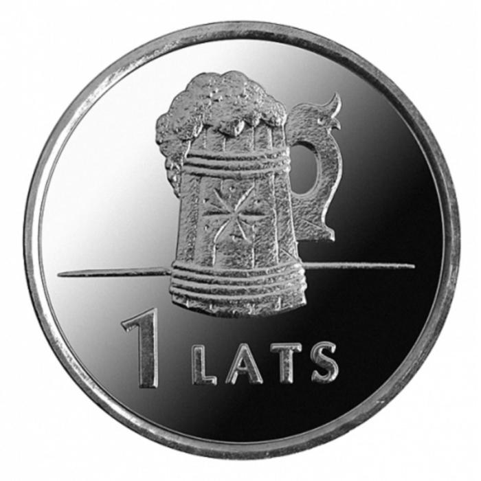 Монета номиналом 1 лат Пивная кружка. Латвия, 2011 год211104Монета номиналом 1 лат Пивная кружка. Латвия, 2011 год Диаметр 2,1 см. Сохранность UNC (без обращения).