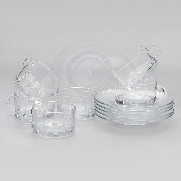 Набор кофейный Side, 12 предметов98400Кофейный набор Side, выполненный из высококачественного прочного стекла, состоит из шести чашек и шести блюдец. Элегантный дизайн и изящные формы предметов набора привлекут к себе внимание и украсят интерьер. Набор Side идеально подойдет для сервировки стола и станет отличным подарком к любому празднику. Характеристики: Материал: натрий-кальций-силикатное стекло. Диаметр блюдца: 12,5 см. Диаметр чашки: 6,5 см. Высота чашки: 3,8 см. Размер упаковки: 22 см х 15 см х 9 см. Артикул: 98400.