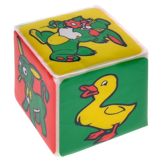 Игрушка-кубик Мир вокруг тебя. Животные, с пищалкой27076Яркая игрушка-кубик Мир вокруг тебя заинтересует вашего малыша и не позволит ему скучать. Игрушка выполнена из мягкого безопасного для ребенка материала. На сторонах кубика изображены различные животные: овечка, поросенок, ослик, утенок, зайчик и кошка. Внутри кубика спрятана пищалка. Малышу понравиться сжимать кубик, который будет издавать при этом негромкий звук. Игрушка-кубик поможет ребенку развить цветовое и звуковое восприятия, мелкую моторику рук и тактильные ощущения.