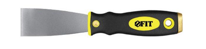 Шпатель FIT, 50 мм06672Шпатель FIT с твердым полированным лезвием с заточенной гранью и эргономичной двухкомпонентной рукояткой с металлическим бойком, предназначен для удаления ржавчины.