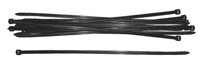 Набор пластиковых хомутов FIT, цвет: черный, 200 мм, 100 шт