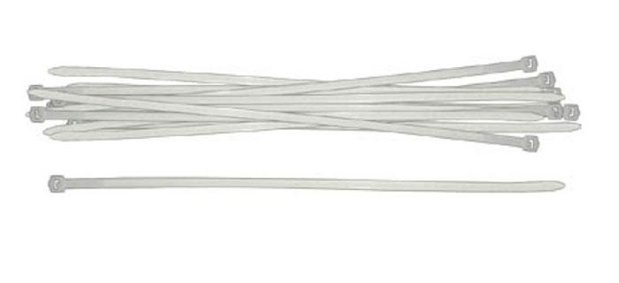 Набор пластиковых хомутов FIT, цвет: белый, 200 мм, 100 шт