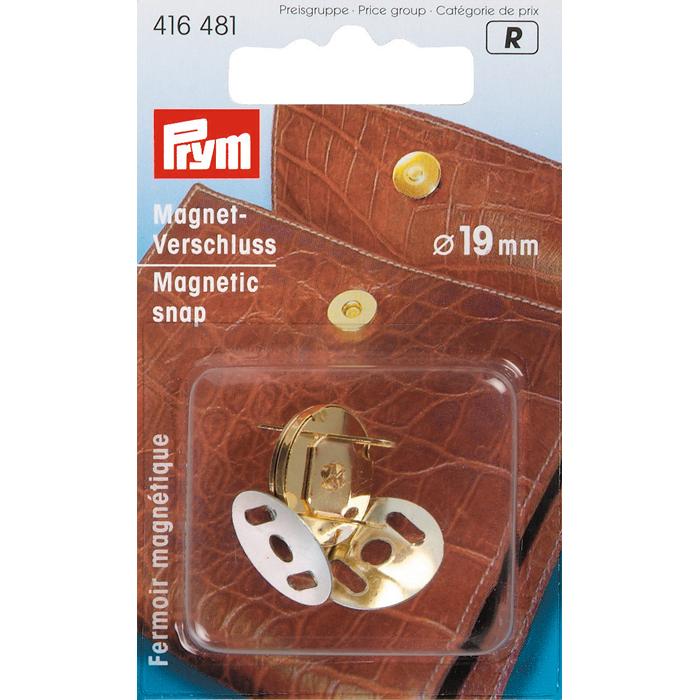 Застежка магнитная Prym, цвет: золотистый416481Круглая магнитная застежка Prym, изготовленная из железа золотистого цвета, предназначена для установки на сумках, косметичках и рюкзаках.