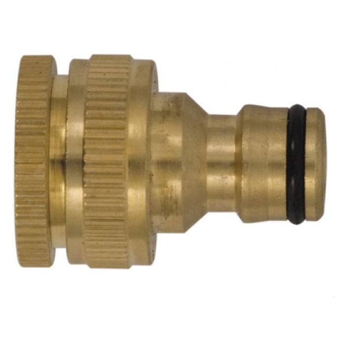 Коннектор для кранов FIT с внешней резьбой, 3/4 - 177456Коннектор для кранов FIT предназначен для надежного и герметичного соединения заборного шланга с краном. Изделие имеет внутреннюю резьбу. Изготовлен из высококачественного материала, имеет длительный срок эксплуатации. Характеристики: Материал: латунь. Размеры насадки: 4 см x 3,5 см x 3,5 см. Размер упаковки: 10 см x 15 см x 4 см.